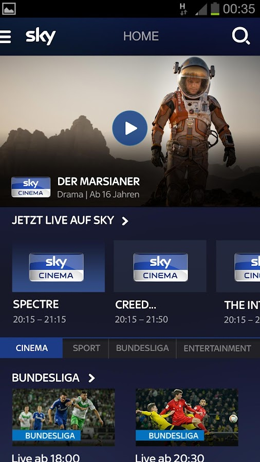 Sky Ticket- screenshot