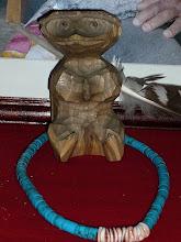 Photo: ナナオの盟友、砂澤ビッキの作った木彫りです