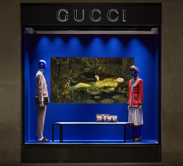 Gucci digital window display