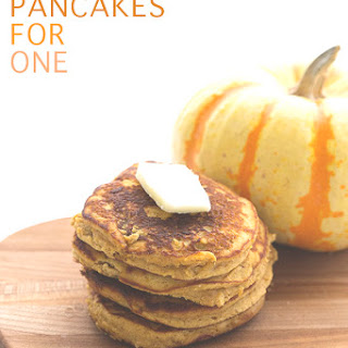 Pumpkin Pancakes for One