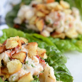 Lobster Roll Lettuce Wraps with Brioche Crumbles.