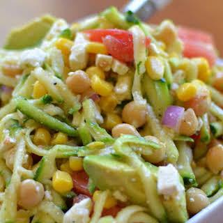 Zucchini Chickpea Avocado Salad.
