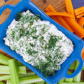 Cucumber-Feta Greek Yogurt Dip.