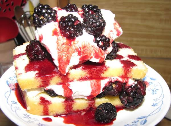 Orange Pound Cake With Blackberries And Drizzle Recipe