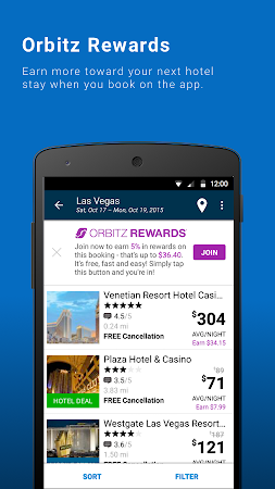 Orbitz - Flights, Hotels, Cars 6.2.1 screenshot 237010
