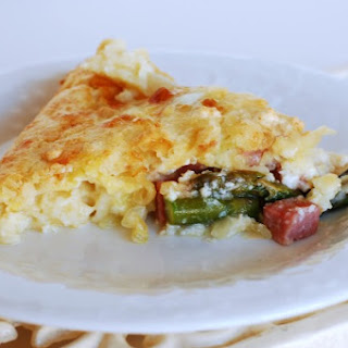 Ham, Asparagus and Swiss Quiche + Pineapple Dump Cake - Dinner and Dessert!