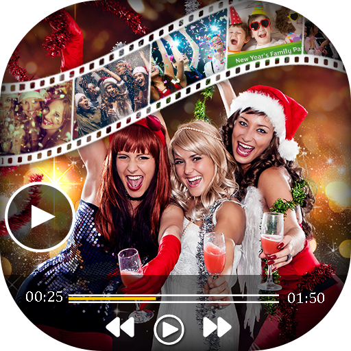 New Year Video Maker with Music 2018 game (apk) free download for Android/PC/Windows