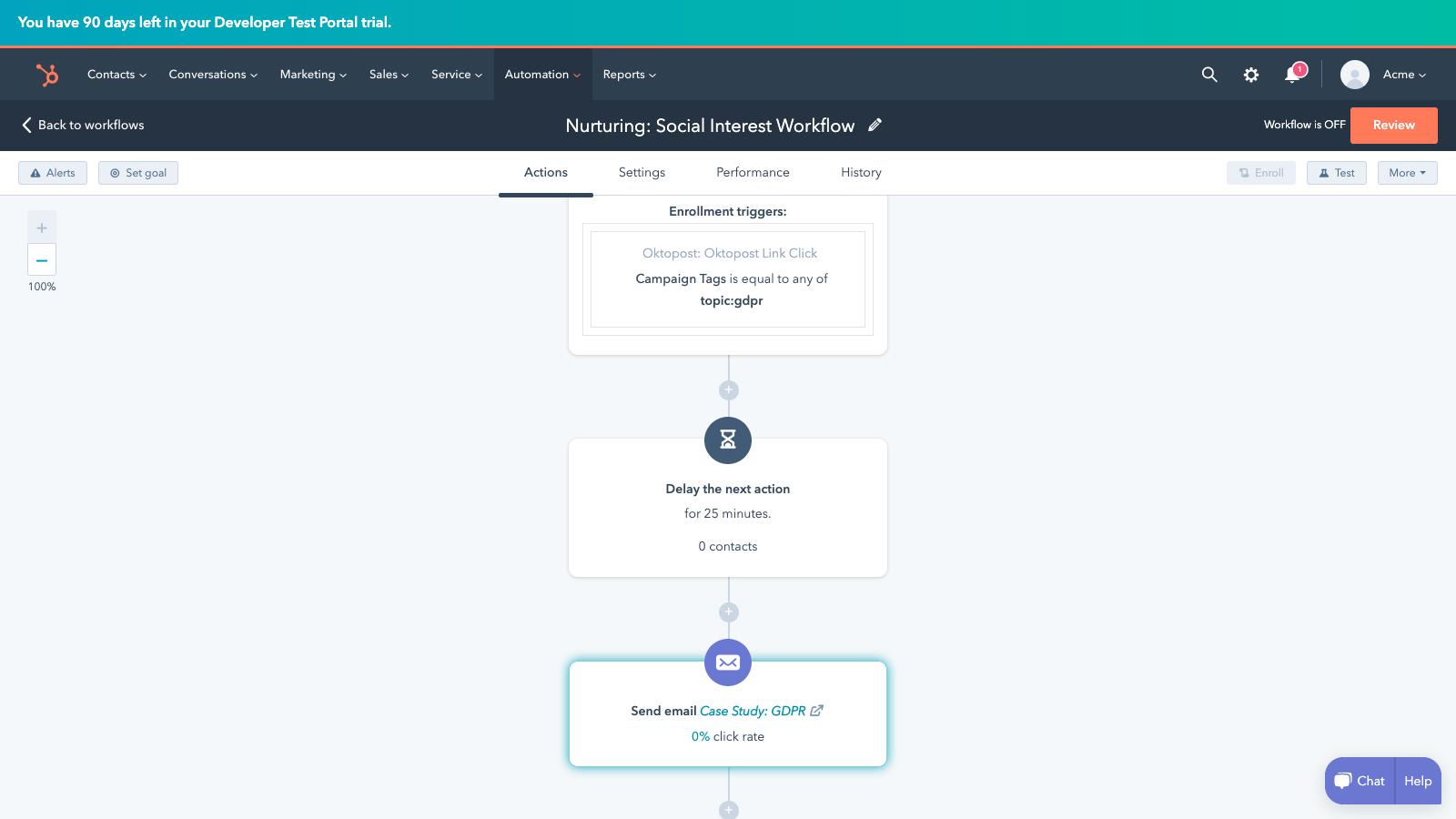 oktopost email nurturing hubspot integration demo