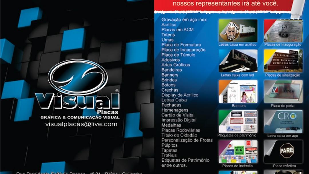 8dd85f65c VISUAL PLACAS COMUNICAÇÃO VISUAL & GRÁFICA - Comunicação Visual ...