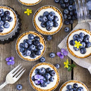 Lemon Blueberry Tarts (in Mason Jar Lids)