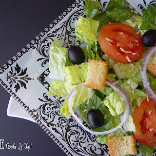 Olive Garden Salad with Homemade Dressing.