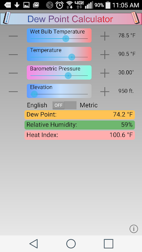 Dew Point Calculator 1.4