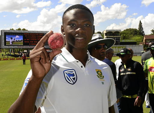Attack leader: Kagiso Rabada's 10/63 earned him the man of the match award and the match ball. Picture: LEE WARREN/GALLO IMAGES