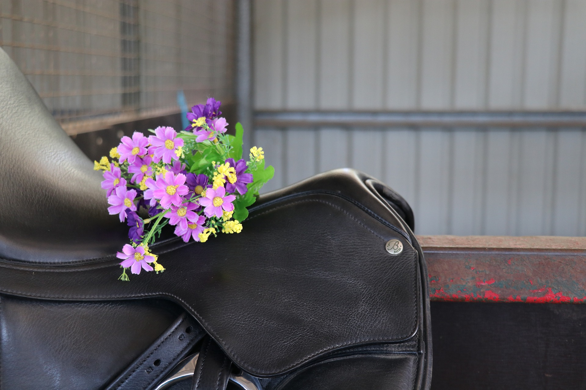 a less expensive used saddle with flowers