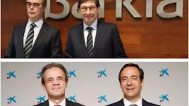 Presidentes y consejeros delegados de las dos entidades.