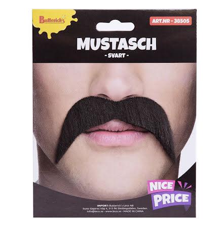Mustasch, svart