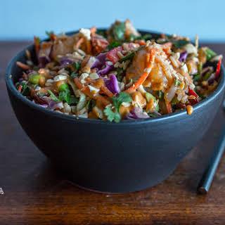 Thai Peanut Shrimp & Rice Salad Bowl.
