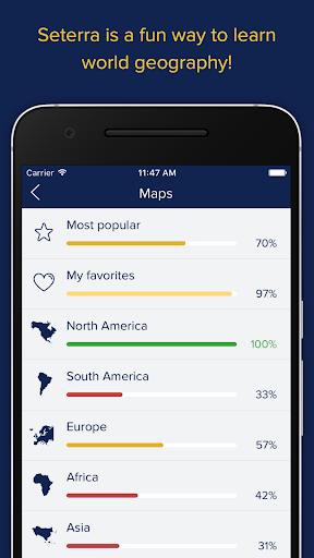 Screenshot for Seterra Geography in Hong Kong Play Store