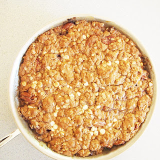 Peach Oatmeal Skillet Pie