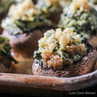 Spinach Artichoke Stuffed Mushrooms.