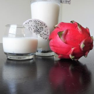 Dragonfruit Coconut Protein Smoothie.