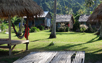 Photo: These small huts can be rented for over-night stays