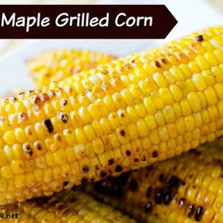 Spicy Maple Grilled Corn On The Cob.