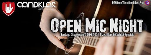 Aandklas Open Mic Night - 13 Aug - Open for Koos Kombuis! : Aandklas Hatfield