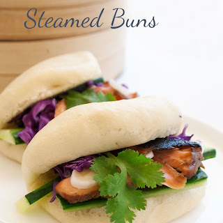 Hot Asian Salmon Salad with Steamed Buns Recipe