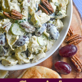Curry Chicken Salad with Red Grapes & Pecans.