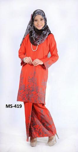 Baju Kurung Pahang Koleksi Baju Raya 2014 Fesyen Raya Terkini