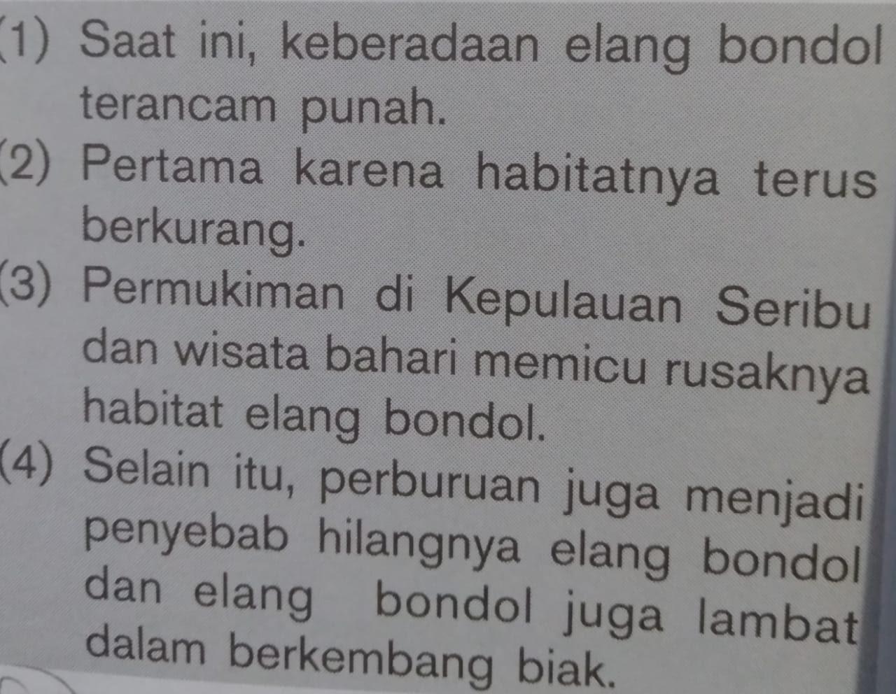 Soal UAS Bahasa Indonesia beserta Kunci Jawaban SMP Kelas 8