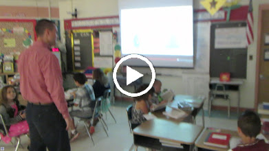 Video: Blake and Steven having fun with the third-graders. The students were excited to have their own special dictionaries. These dictionaries are backed full of a lot of extra information that they can use for the rest of their lives! - September 23, 2014 at DeBary Elementary School