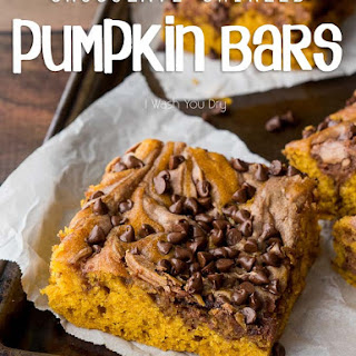 Chocolate Swirled Pumpkin Bars