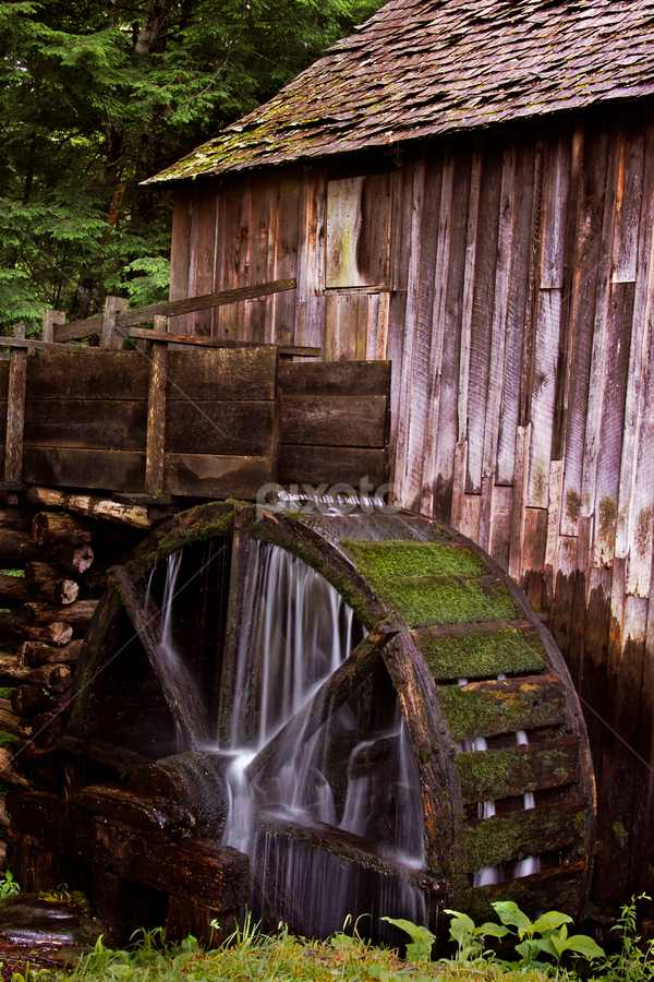 by Brook Kornegay - Buildings & Architecture Public & Historical ( water mill, mill, national park, gris mill, historic, smokey mountains,  )