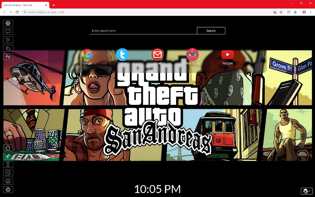 Gta San Andreas New Tab