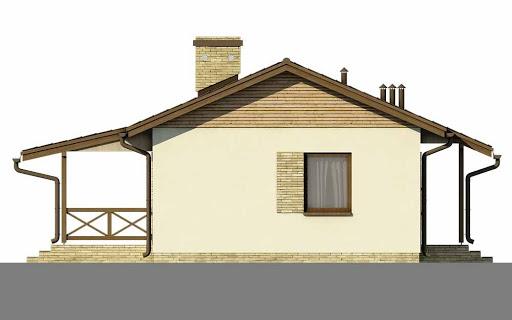 D51 - Justyna wersja drewniana - Elewacja prawa