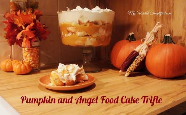 Easy Pumpkin And Angel Food Cake Trifle