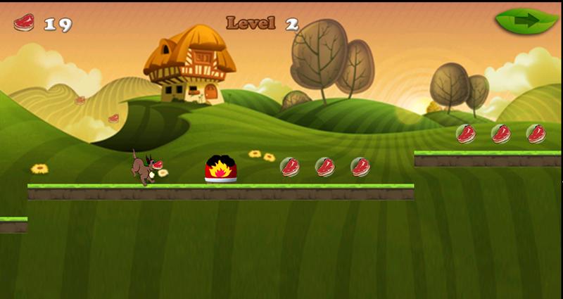 android Dog Running Adventure Screenshot 2