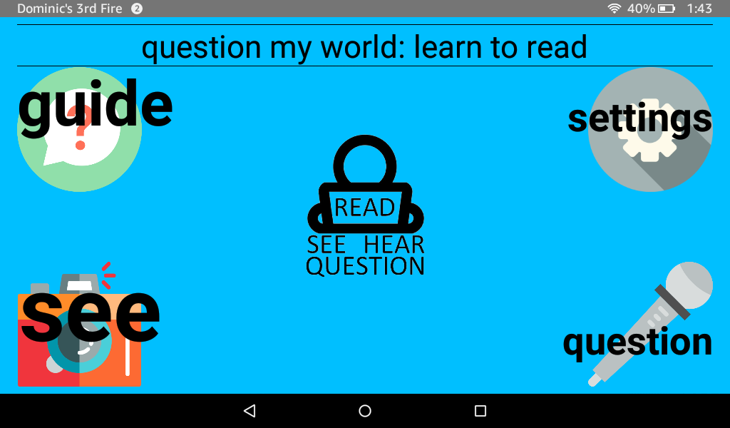 Question My World: Learn To Read- screenshot