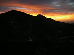 Photo: I left camp alone at 3 a.m. on Day Three, and made it to our previous day's turnaround point in time to see the sunrise over Mount Meeker before continuing up Mount Alice.