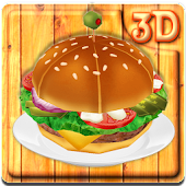 Big Yummy Burger 3D Theme