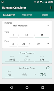Running Calculator: Pace, Predictions, Race Splits 2.10 (Paid)