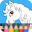 Coloring & Play with Animals for Kids icon