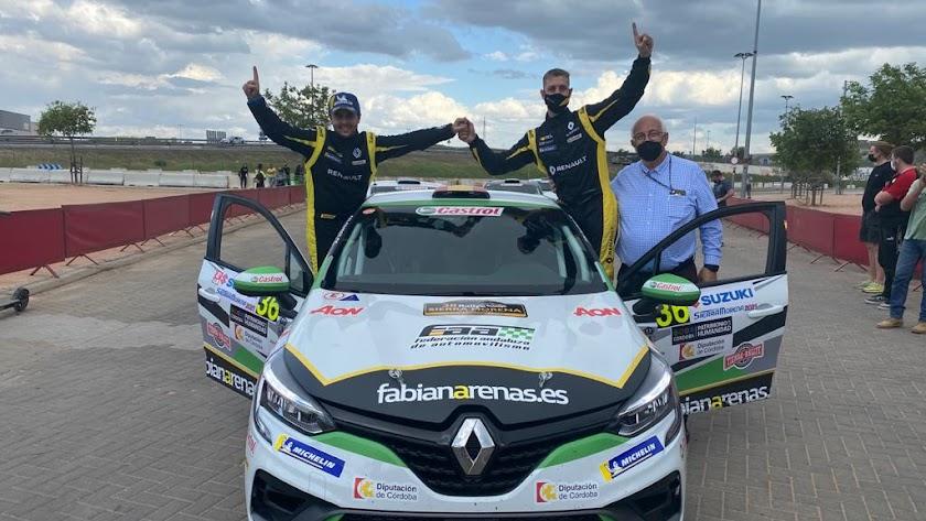 Los vencedores de la prueba, German Leal y Pablo Sánchez