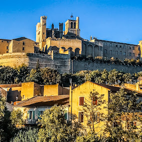 Béziers Cathedral by Iva Marinić - Instagram & Mobile iPhone ( travel photography, landscape photography, iphone, landscape, cathedral, architecture,  )