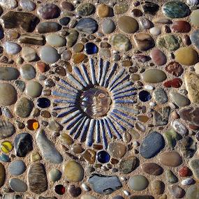 Sunny side walk by Ann Marie - Artistic Objects Other Objects ( side walk, art, mosaic, sun )