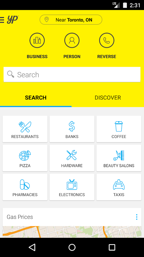 YP Yellow Pages Canada - screenshot