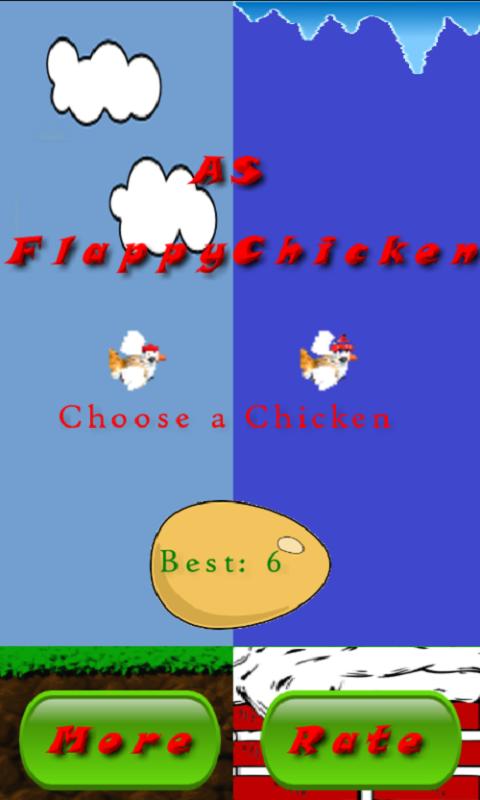 Скриншот AS Flappy Chicken