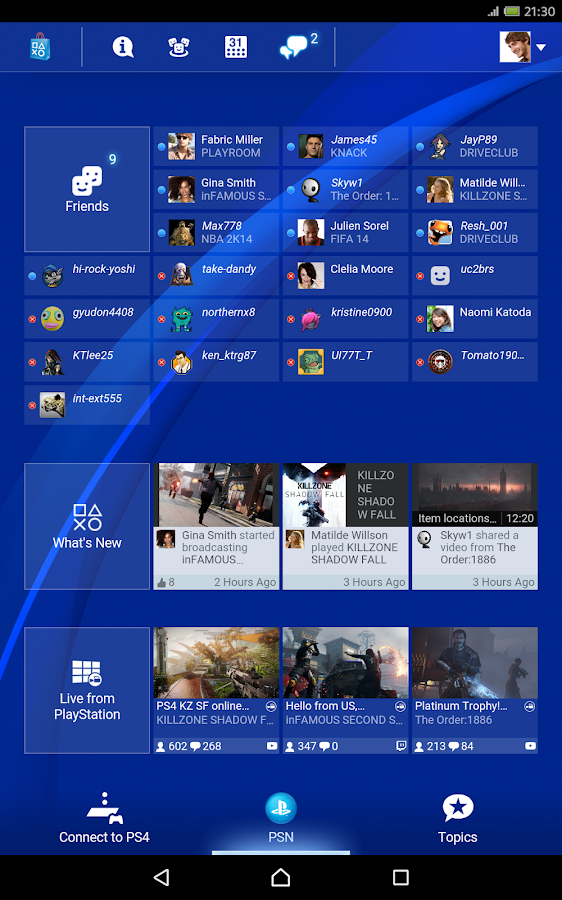 PlayStation®App- screenshot
